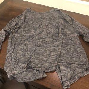 Lululemon Gray long sleeve tie back top